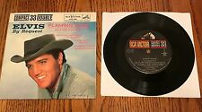 ELVIS PRESLEY BY REQUEST ORIGINAL FLAMING STAR COMPACT 33 ~ RARE!