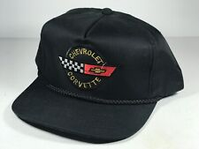 Vintage Chevrolet Chevy Corvette black/red /gold snapback rope front Hat Cap