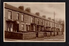Howden le Wear, near Crook - Holly Terrace - real photographic postcard.