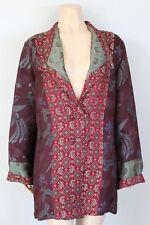 CITRON SANTA MONICA Dragon Brocade Silk Blend Cardigan Jacket, Size Large L