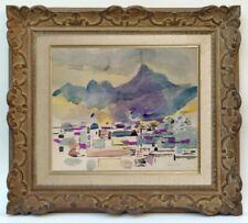 MAURICE GENIS (1925-2013) ECOLE DE PARIS - PAYSAGE AU MAROC 1950 (9)