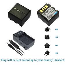 2x Battery PACK + Charger for JVC BN-VF707U BN-VF714U BN-VF733US NEW