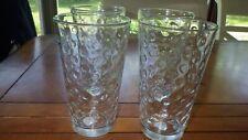Clear Glass Tumblers Coolers Pint Glasses Bumpy Dots Awa LIBBEY Glass Co 4 16 oz