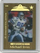 1999 Michael Irvin Absolute the Coaches' Collection Card Serially # 4 /25