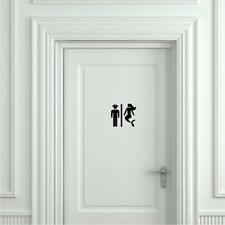 Pirate and Mermaid Toilet Sticker - Door Sticker, Door Decal Bathroom Door Sign