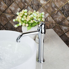 Tall Basin Mixer Tap Bathroom Vanity Sink Water Faucet Deck Mounted In Chrome