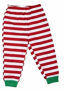 Family PJs Kids Holiday Stripe Pajama Bottoms ONLY Red 14-16