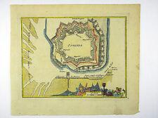 OSTENDE FLANDERN BELGIEN BENELUX KOL KUPFERSTICH ANSICHT CHRYSTIN 1786 #D861S