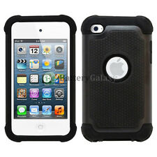 Hybrid Defender Slim Armor Hard Case Cover Shell For Apple iPod Touch 4 4th Gen