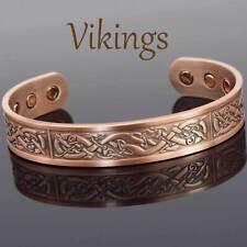 VIKING Bracelet Men Copper Magnetic Bracelet Healing Bangle Sizes M-XL -Vikings
