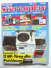 Stereoplay 12/83. Accuphase 222, 1 Bryston B, Harman citation x II, SAE x 1 P