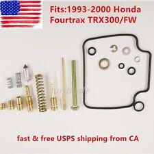 TOP QUALITY 1993 - 2000 Honda Fourtrax TRX300/FW Carburetor Repair Kit Carb Kit