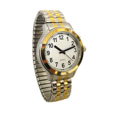 Ladies One Button Talking Watch Gold and Chrome Expansion Two Tone, 2 Tone