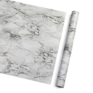 10m Grey Marble Wallpaper Vinyl Self Adhesive Wall Stickers Kitchen Cabinet Wrap