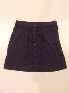 """Lucy Womens """"Around the World"""" Cargo Skirt Size Small Button Front Gray"""