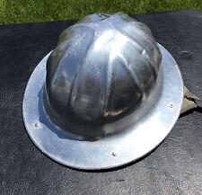 New listing Vintage B.F. McDonald Co. Full Brim Aluminum Hard Hat With Liner