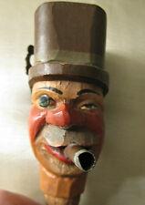 Vintage Carved Wood Wine bottle Musical Cork Pourer Stopper.