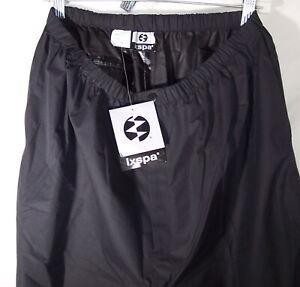 "NEW IXSPA Black sz XL Rain Pants sz 32-38"" by 32"" Inseam"