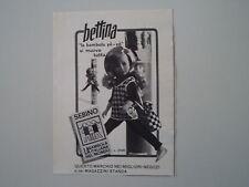 advertising Pubblicità 1966 BAMBOLA SEBINO BETTINA