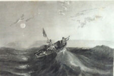 La DETRESSE naufrage Bateau Navigation France Maritime GRAVURE XIXème