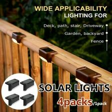 LED Solar Deck Lights Waterproof Outdoor Garden Pathway Stairs Fence Night Lamps