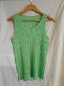 Pleats please Issey Miyake green tank size 3 made in Japan