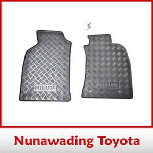 GENUINE ACCESSORY TOYOTA HILUX FEB 2005 - SEP 2011 FRONT RUBBER PAIR FLOOR MATS
