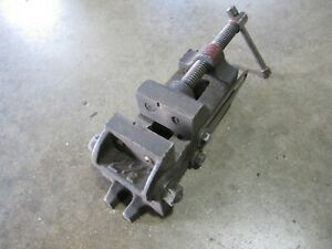 """Machinist Vise 2 1/2"""" Adjustable Tilting Angle Drill Press Vise Vintage Vise"""