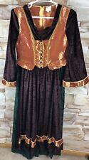 Halloween Costume womens size 10-12 Renaissance midevil wench long dress