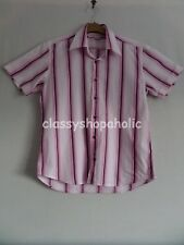 Duck and Cover Carter Pink Striped Shirt - Size Medium - BNWOT
