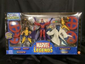 Marvel Legends X-Men Gambit Wolverine Rogue Beast Magneto Figure 5 Pack Lot Set