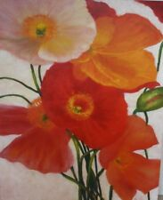"""Original oil painting by Judy Ford, """"Poppy Party"""""""