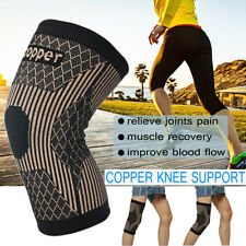 Copper Knee Support Compression Sleeve Brace Patella Arthritis Pain