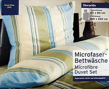 Mikrofaser Bettwäsche Übergröße mit Reißverschluß mit Streifen Design NEU/OVP