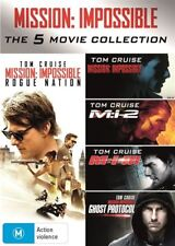 Mission Impossible 1-5 Movie Collection DVD NEW R4 1 2 3 4 5 Rogue Nation MI