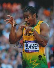 Johan BLAKE Autograph Signed Photo AFTAL COA Jamaica Athlete Sprinter The Beast