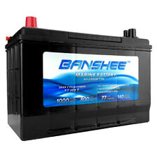 12V Volt Deep Cycle Banshee Battery, Replaces Optima Bluetop D27M Marine Battery