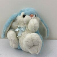 Vintage lemonwood asia ltd BLUE WHITE BUNNY RABBIT STUFFED ANIMAL PLUSH TOY