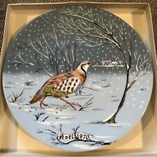 Noel 1970-1981 12 Days of Christmas Collector Plates Haviland Limoges Full Set