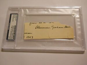 ALEXANDER GRAHAM BELL SIGNED CUT PSA/DNA CERTIFIED AUTHENTIC AUTO TELEPHONE