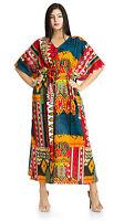 Ethnic Beach Cover Up Kaftan Boho Hippy New Indian Plus Size Women Dress Caftan
