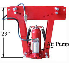 16 Ton AIR Pneumatic Hydraulic Pipe Tube Bender Bending 8 Dies INCLUDED