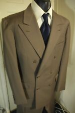 BRIONI SIZE 42R DOUBLE BREASTED WOOL SUIT W/DUAL VENTS