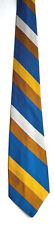 Men's New Neck Tie, Blue Brown White stripe design by Regal