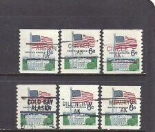 New listing Alaska Precancels: Group of 6-cent Coil U.S. Flag Stamps