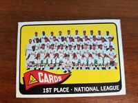1965 TOPPS St. LOUIS CARDINALS TEAM PICTURE CARD #57 LOU BROCK VERY GOOD
