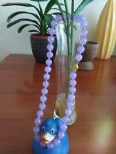 "Natural 10mmpurple alexandrite gemstone beads necklace 18""-Handmade UK seller"