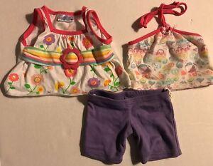 BUILD A BEAR Clothes, Halter Top, Floral Shirt And Knit Shorts