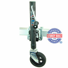 Boat Trailer Swivel Jack DLX 1500lb Capacity Bolt On Tongue with Hardware