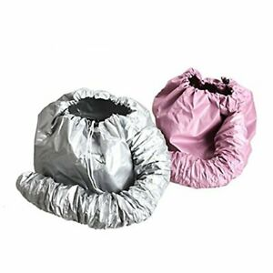 2 Pcs (one Sliver Another is Pink) Portable Safe Women Hair Dryer Soft Bonnet